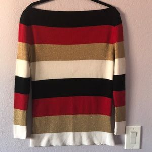 Multicolored Dolce & Gabbana off shielders sweater